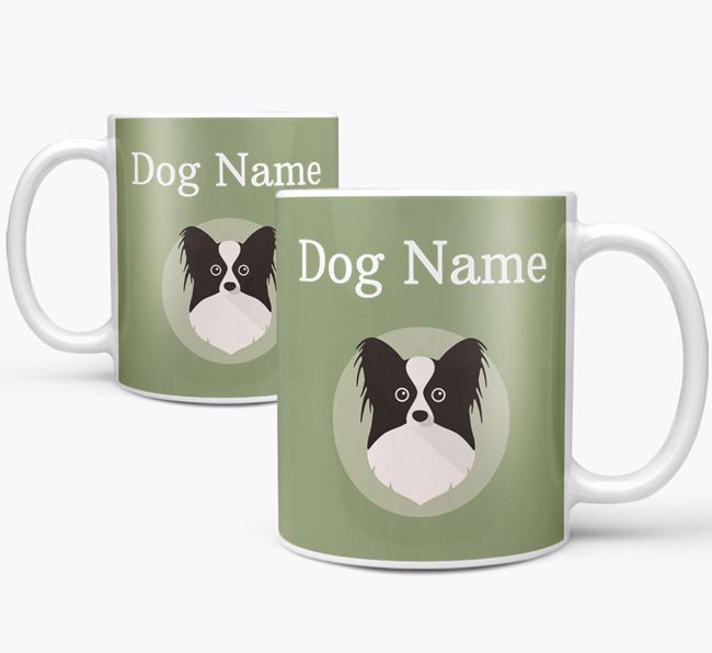 Personalised Papillon Mug
