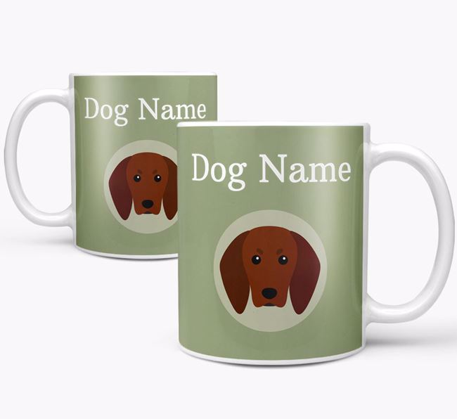 Personalised Redbone Coonhound Mug