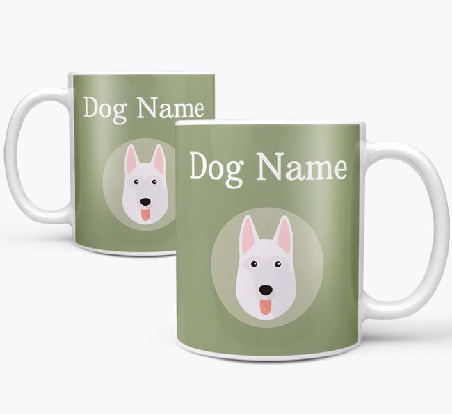 Personalised White Swiss Shepherd Dog Mug