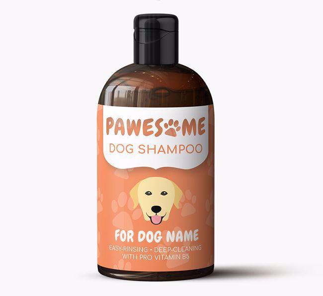 Personalised Dog Shampoo 'Pawesome' for