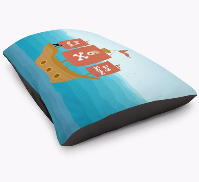 Personalised 'Pirate Ship' Dog Bed for