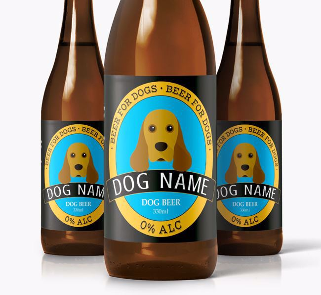 Personalised Spaniel Beer For