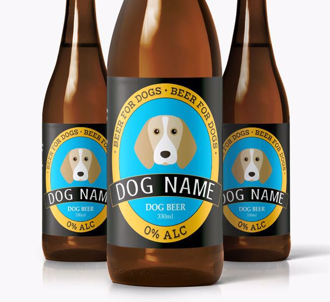 Personalised Beagle Beer For