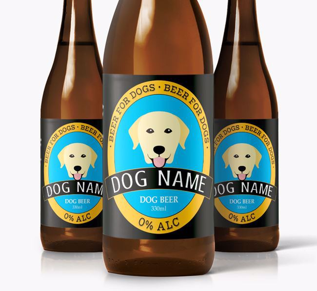 Personalised Labrador Beer For