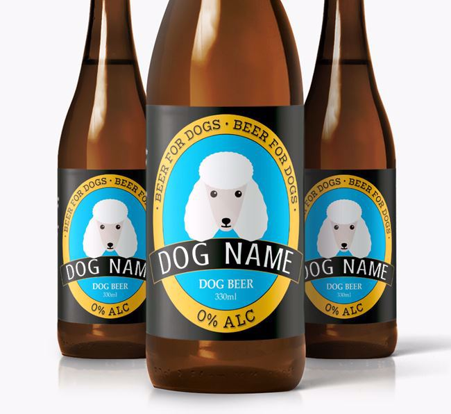Personalised Poodle Beer For