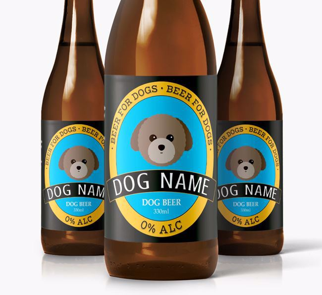 Personalised Toy Poodle Beer For