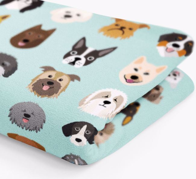 Personalised Luxury Dog Blanket 'All the dogs'