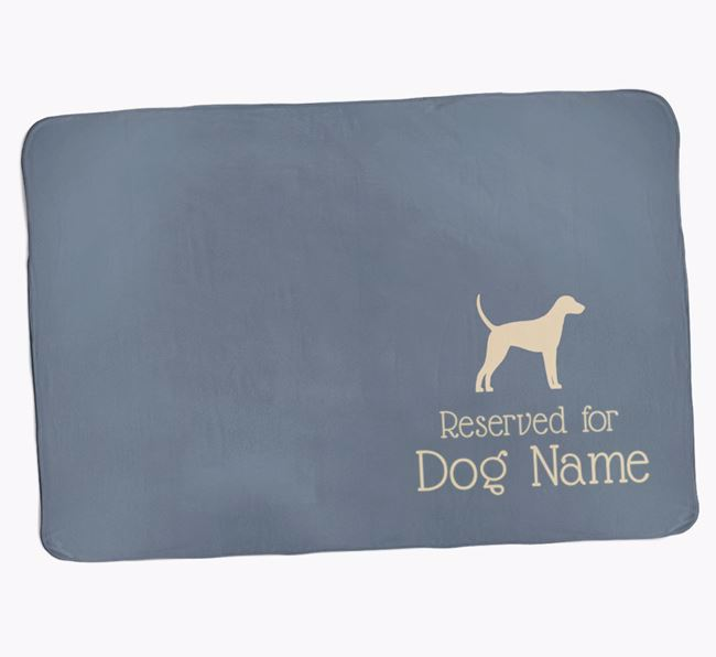 Personalised Luxury Dog Blanket 'Reserved for '