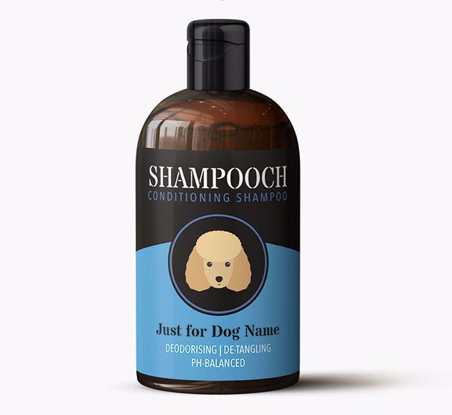 'Shampooch - Just for ' Personalised Dog Shampoo