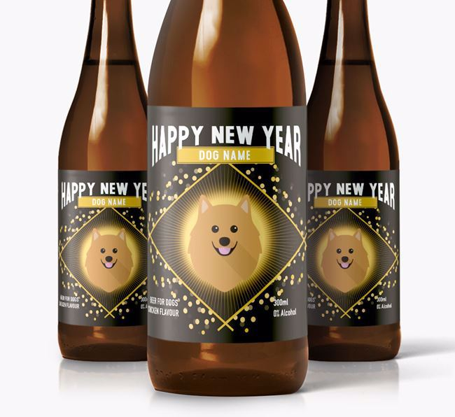 Personalised 'New Year' Dog Beer for
