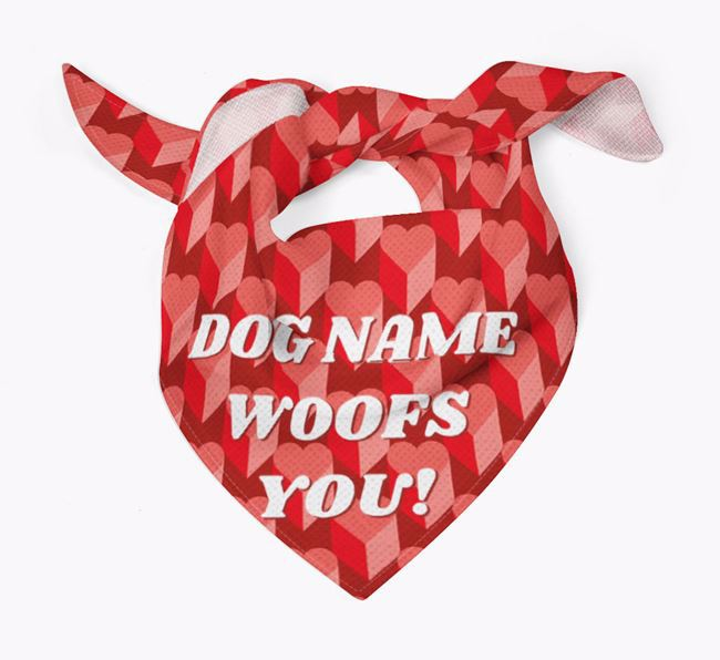 Personalised ' woofs you!' Bandana
