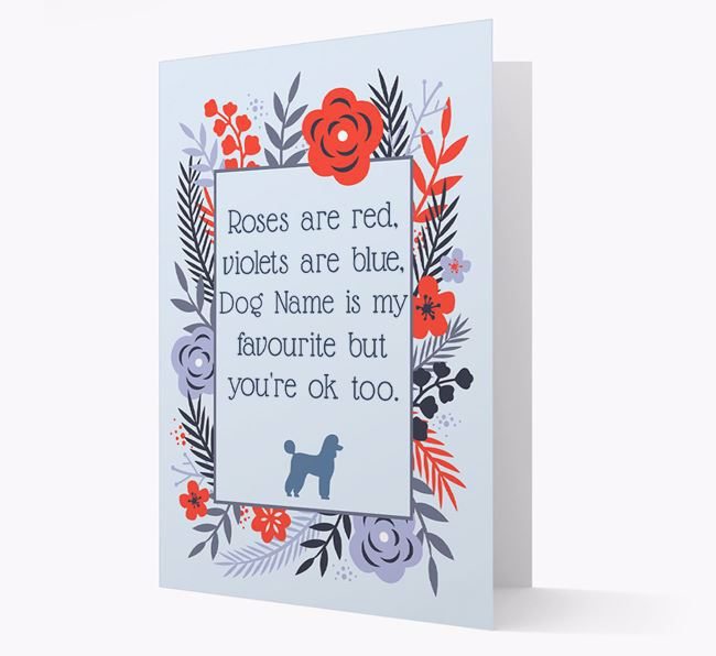 'Roses are red...' Card