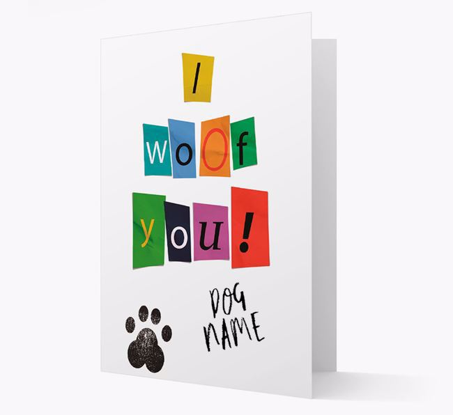 Ransom Note 'I woof you!' Card