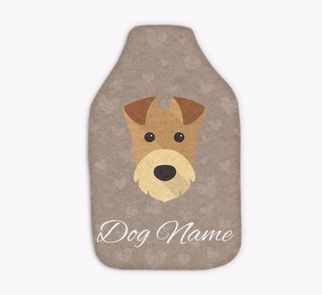 Personalised Hot Water Bottle with Airedale Yappicon