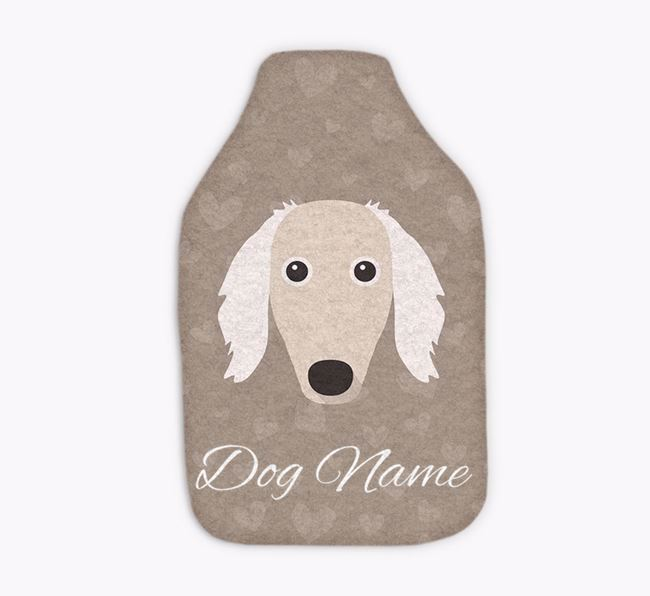 Personalised Hot Water Bottle with Borzoi Yappicon