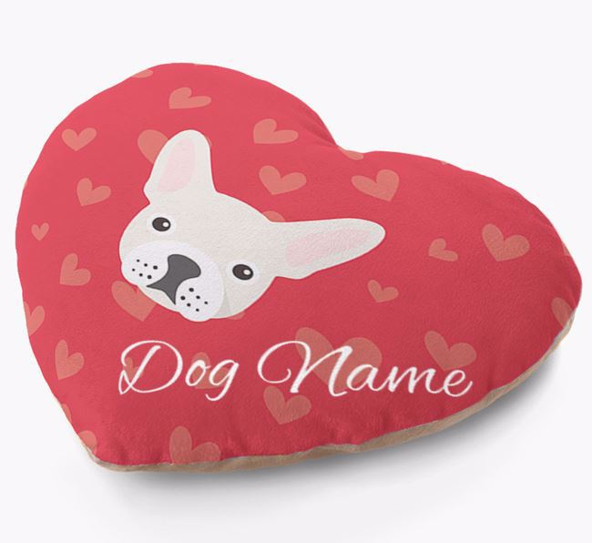 Personalised Soft Touch Heart Cushion