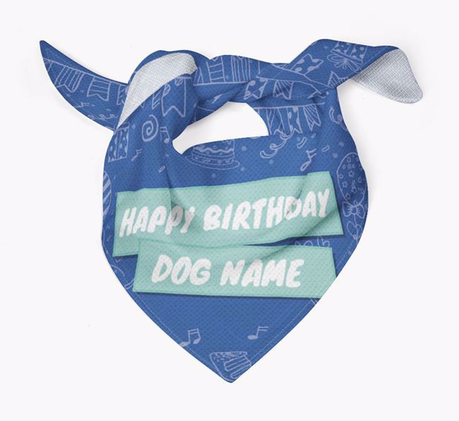Personalised 'Happy Birthday ' Bandana
