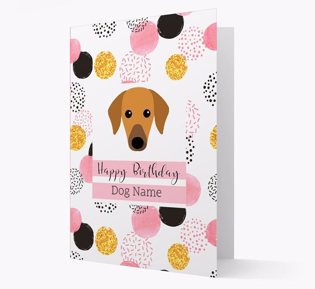 Personalised Pink Pattern 'Happy Birthday' Azawakh Card