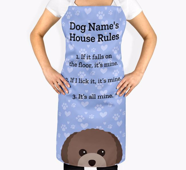 Personalised ''s House Rules' Apron