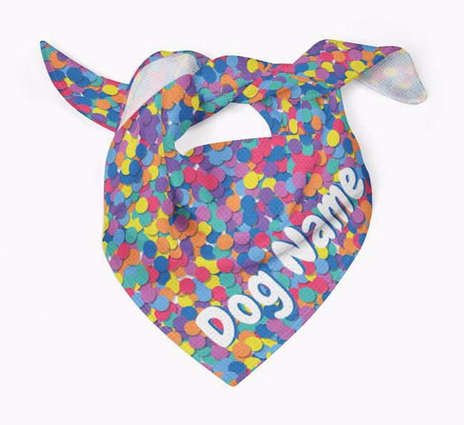 Personalised 'Confetti' Bandana for