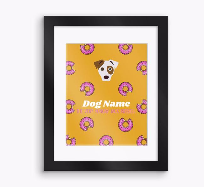 Personalised ' the very hungry Dog' Framed Print