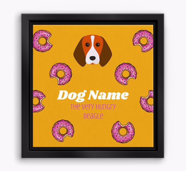 ' the hungry Beagle' Boxed Canvas Print