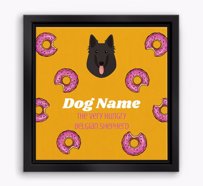 ' the hungry Belgian Shepherd' Boxed Canvas Print