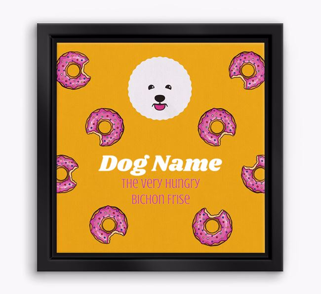 ' the hungry Bichon Frise' Boxed Canvas Print