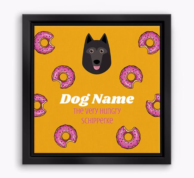 ' the hungry Schipperke' Boxed Canvas Print