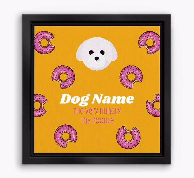 ' the hungry Toy Poodle' Boxed Canvas Print