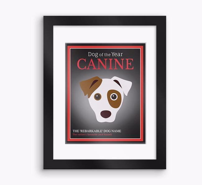 Personalised 'Dog of the Year' Dog Framed Print