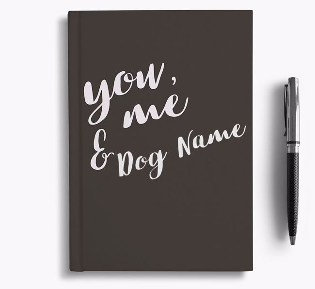 Personalised 'You, Me & ' Notebook