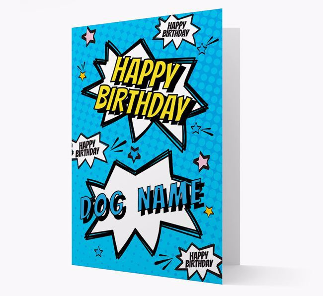 Personalised 'Happy Birthday' Comic Style Card