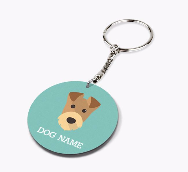 Personalised Airedale Terrier Icon Keyring