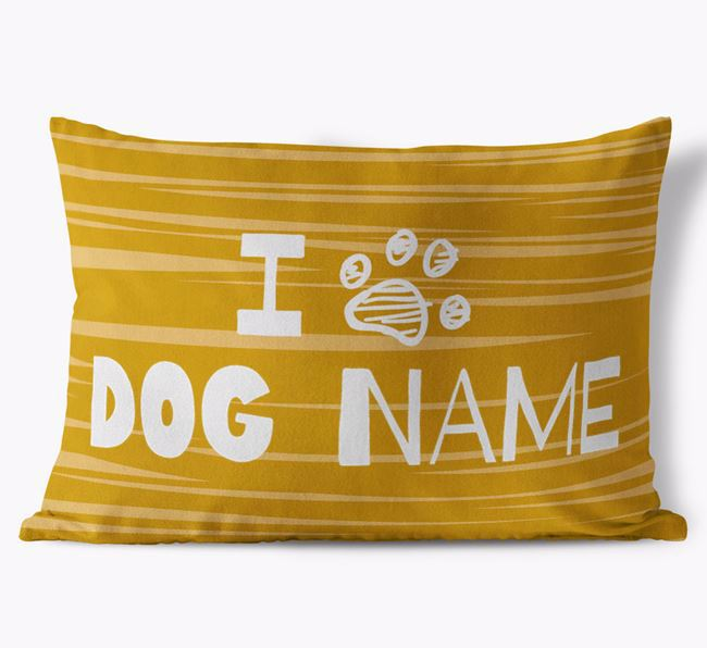 Personalised Rectangular 'I Paw ' Cushion