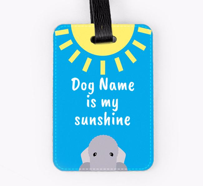 Personalised ' is my sunshine' Luggage Tag