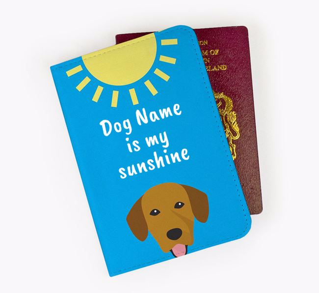 Personalised Passport Cover ' is my sunshine' with Springador Icon