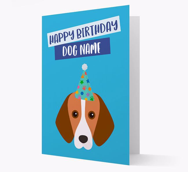 Personalised 'Happy Birthday ' Card with Foxhound Icon