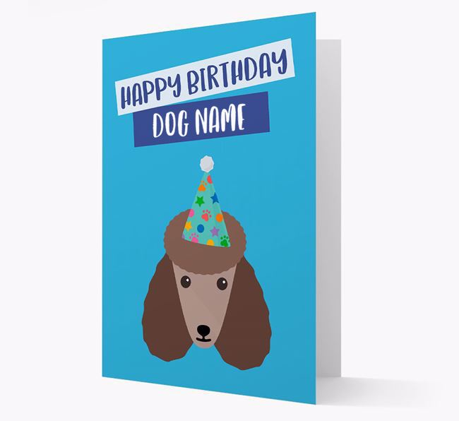 Personalised 'Happy Birthday ' Card with Poodle Icon