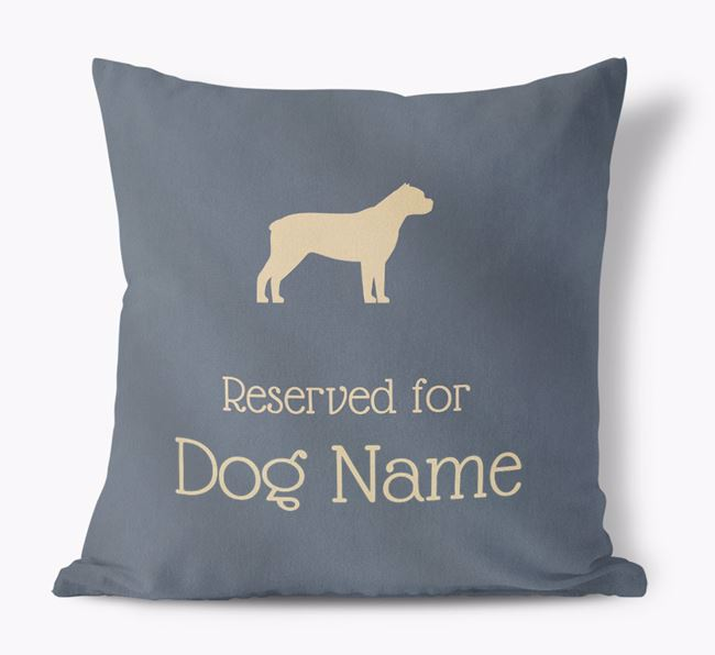 Reserved For  Faux Suede Cushion