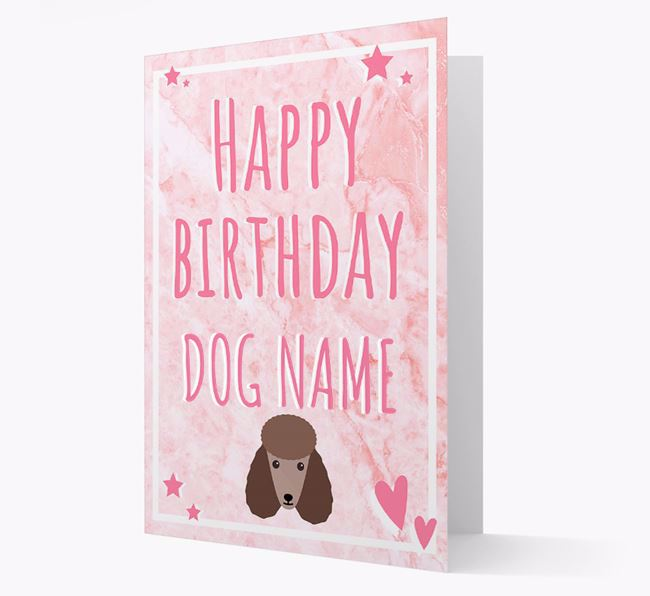 Personalised 'Happy Birthday' Card with Poodle Icon