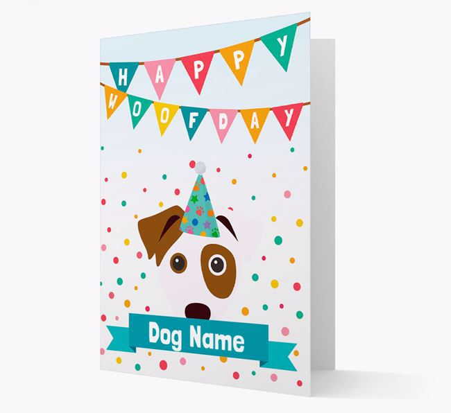 Personalized Card 'Happy Woofday ' with Dog Icon