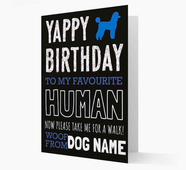 Personalised 'Now Please Take Me for a Walk' Birthday Card