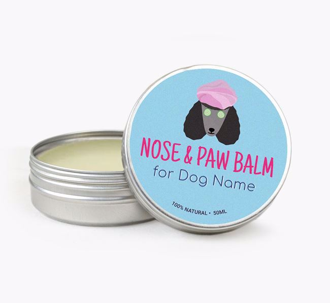 Personalised Nose & Paw Balm for your Poodle
