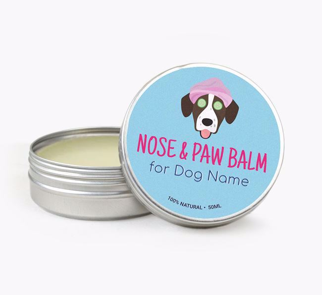 Personalised Nose & Paw Balm for your Springador