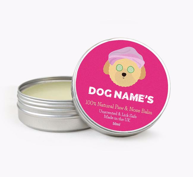 Personalised Toy Poodle Nose & Paw Balm