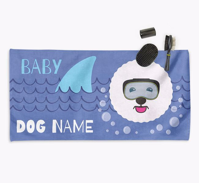 'Baby Shark' Personalised Towel for your Bichon Frise