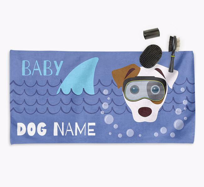 'Baby Shark' Personalised Towel for your Dog