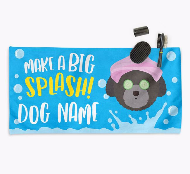 Personalised 'Make a BIG Splash' Towel for your Toy Poodle