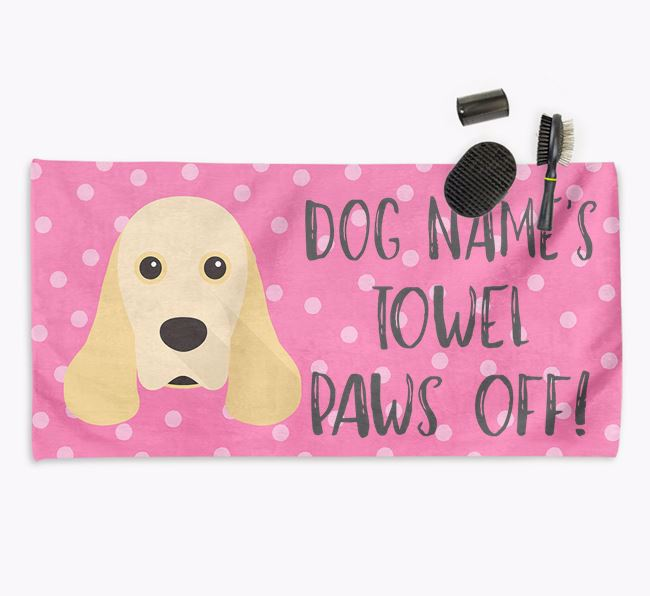 'Paws Off' Dog Towel for your Cocker Spaniel